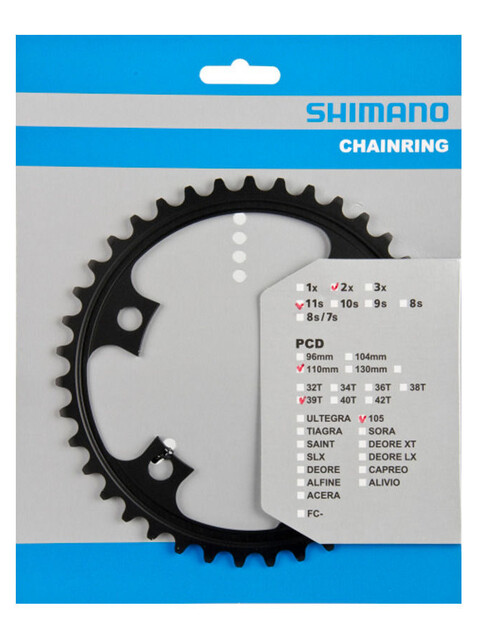 Shimano 105 FC-5800 Kettenblatt MD 110 mm schwarz